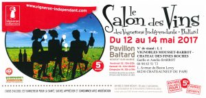 Invitation Salon Vignerons Indépendants Pavillon Baltard 2017